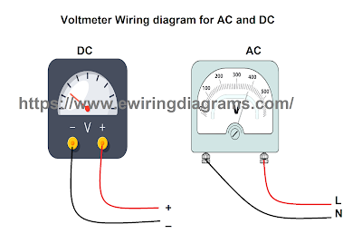 voltmeter connection diagram