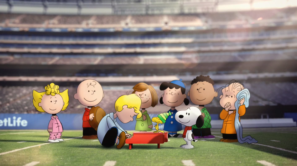 National Anthem with Peanuts & The Gang From Charlie Brown at MetLife Stadium