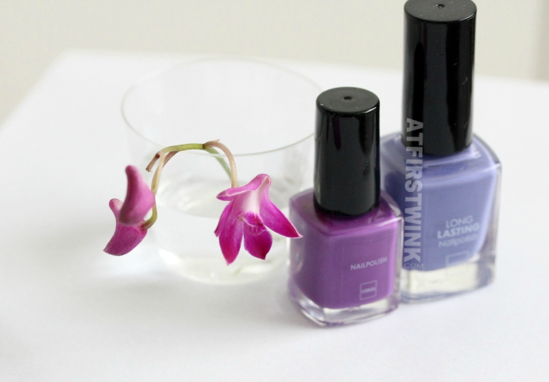 HEMA radiant orchid color nail polishes