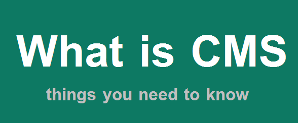 What is CMS (content management system) - things you need to know