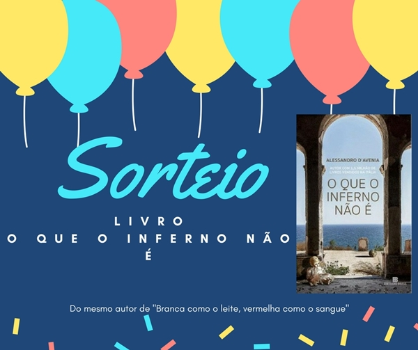 SORTEIO LIVRO O QUE O INFERNO NÃO É