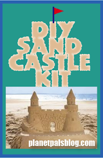 Make a Sand Castle Kit from recycled and household items for the beach.