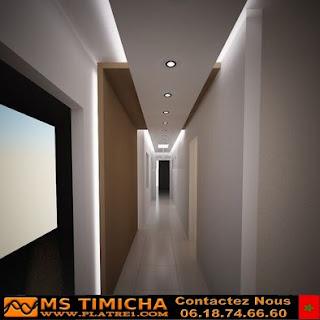 platre faux plafond pour couloire simple