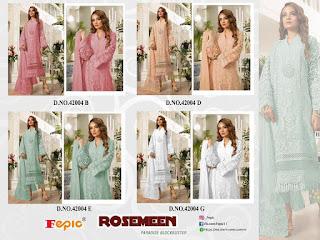 Fepic Rosemeen Paradise Block buster Pakistani Salwar kameez wholesale
