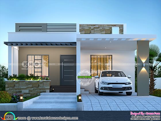 2 bedroom 1150 sq.ft modern home design