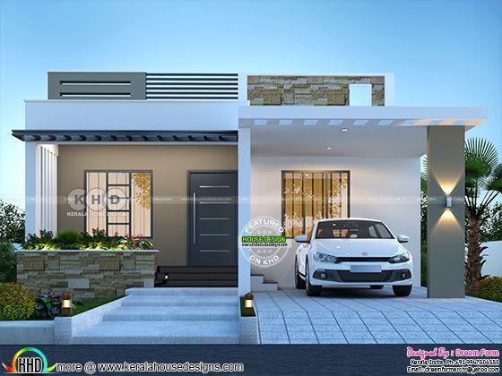 2 bedroom 1150 sq.ft modern home design