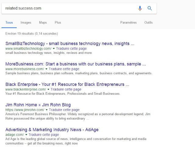 العثور على مواقع ويب مشابهة
