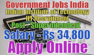 Indian Institute of Technology Bombay IIT Recruitment 2017