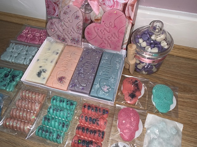 Wax melts in all different shapes, colours and scents