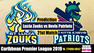 Who will win Today CPL T20 2019 21st Match Patriots vs St. Lucia