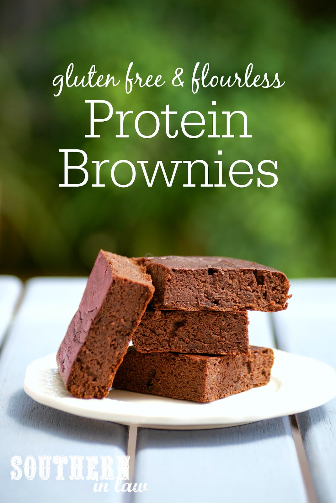 Healthy Protein Brownies | gluten free, low fat, low carb, flourless, clean eating recipe, high protein