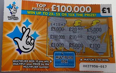 £1 £100,000 Multiplier Scratchcard