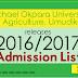 MOUAU 2016/2017 [1st, 2nd & 3rd] Batch UTME & DE Admission List Out