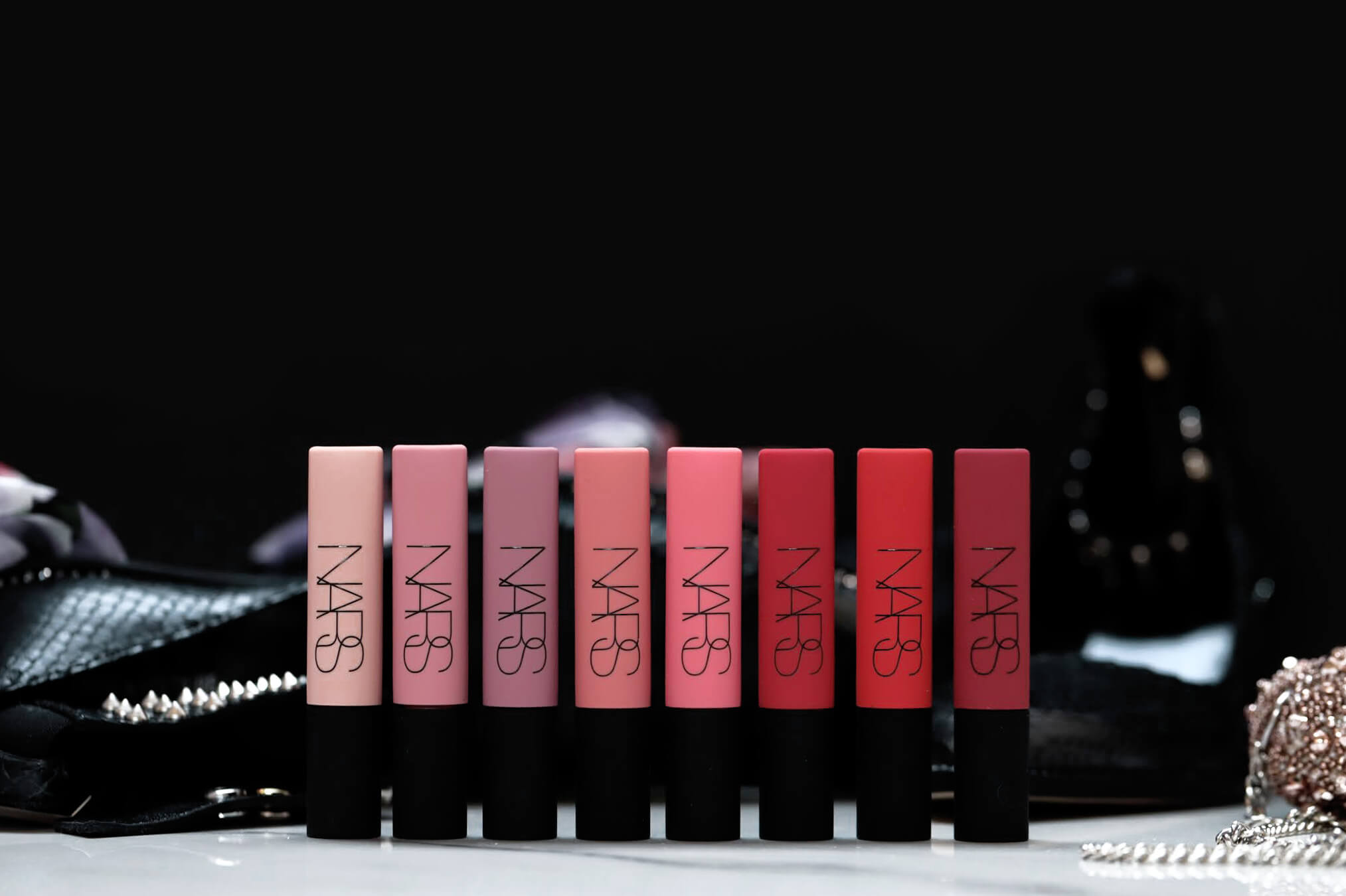 Nars Air Matte All Yours Shag Chaser Joyride Knockout Power Trip Total Domination Mad Rush Pin Up
