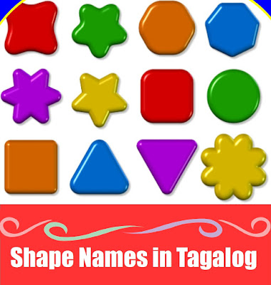 Shapes Word List in Tagalog