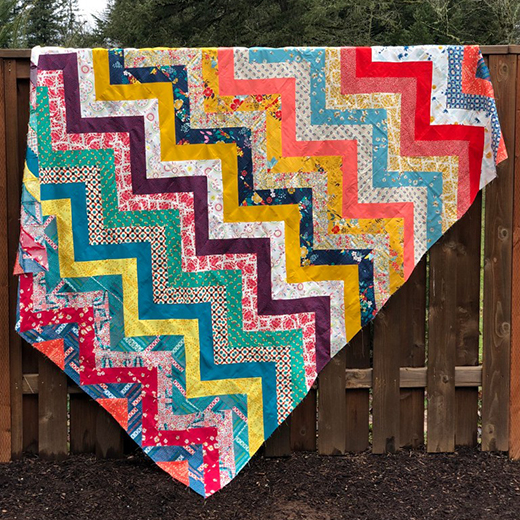 Sun Kissed Chevron Quilt designed by Mathew Boudreaux for Mister Domestic