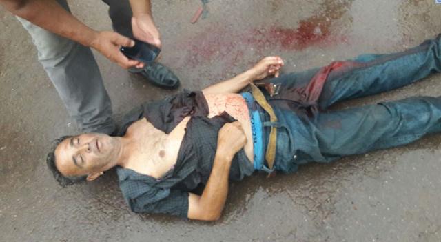 Homem sofre tentativa de homicídio facadas nesse instante no Bairro teixeirão em Cacoal