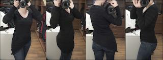 DIY Refashioning Tutorial How To Knit dress asymmetrical shirt