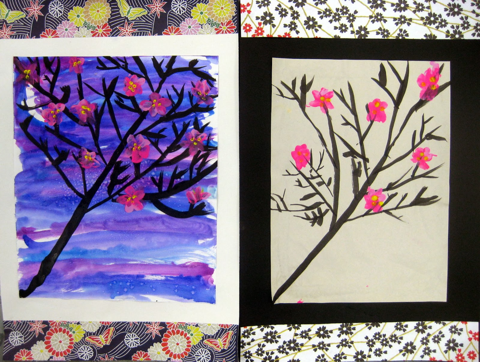 In The Art Room Cherry Blossom Trees By Second Grade