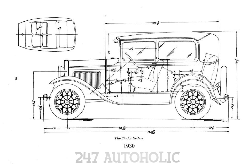 1930 Ford Model A Dimensions Pictures to Pin on Pinterest