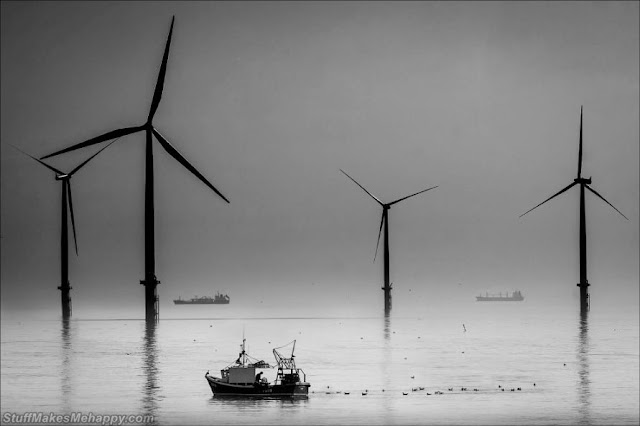 Fisherman and windmills . (Photo by George Hodgson / Sea View Photography Competition 2020)