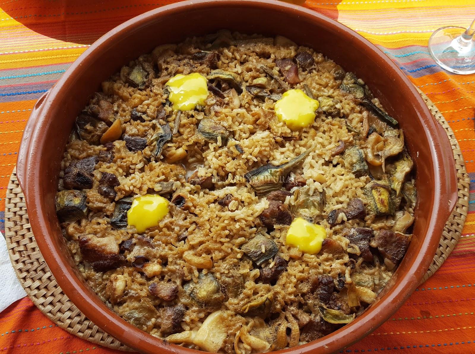 La cocina plural mar y monta a arroz con alcachofas - Arroz con verduras y costillas ...