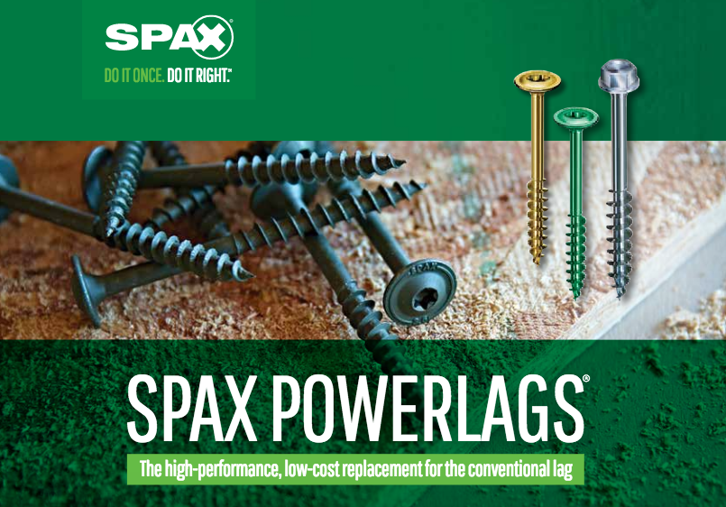 SPAX: All the Power You Need: SPAX® PowerLags®