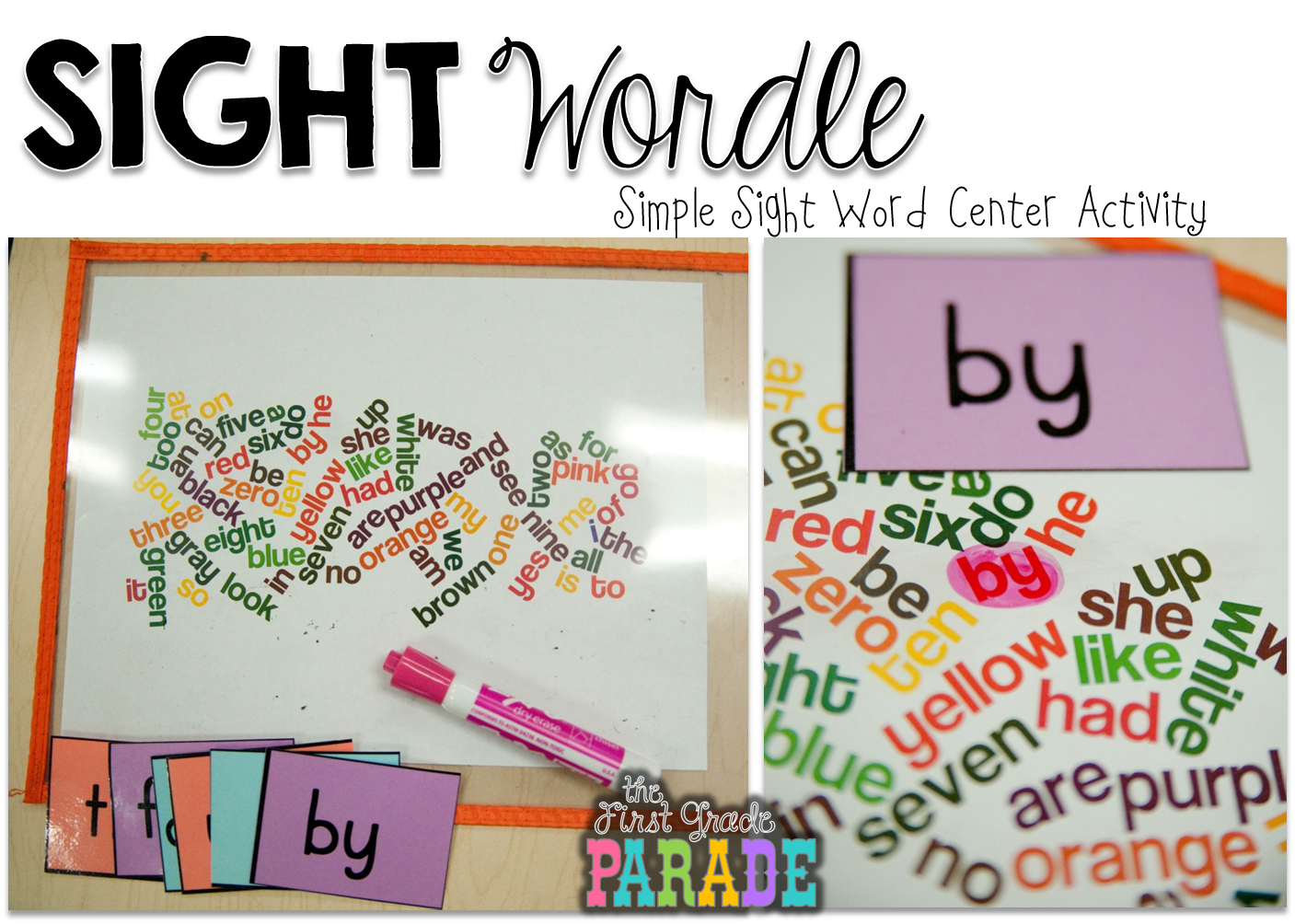 Sight Wordle - Simple Sight Word Center - The First Grade Parade