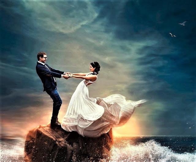 romantic couple background