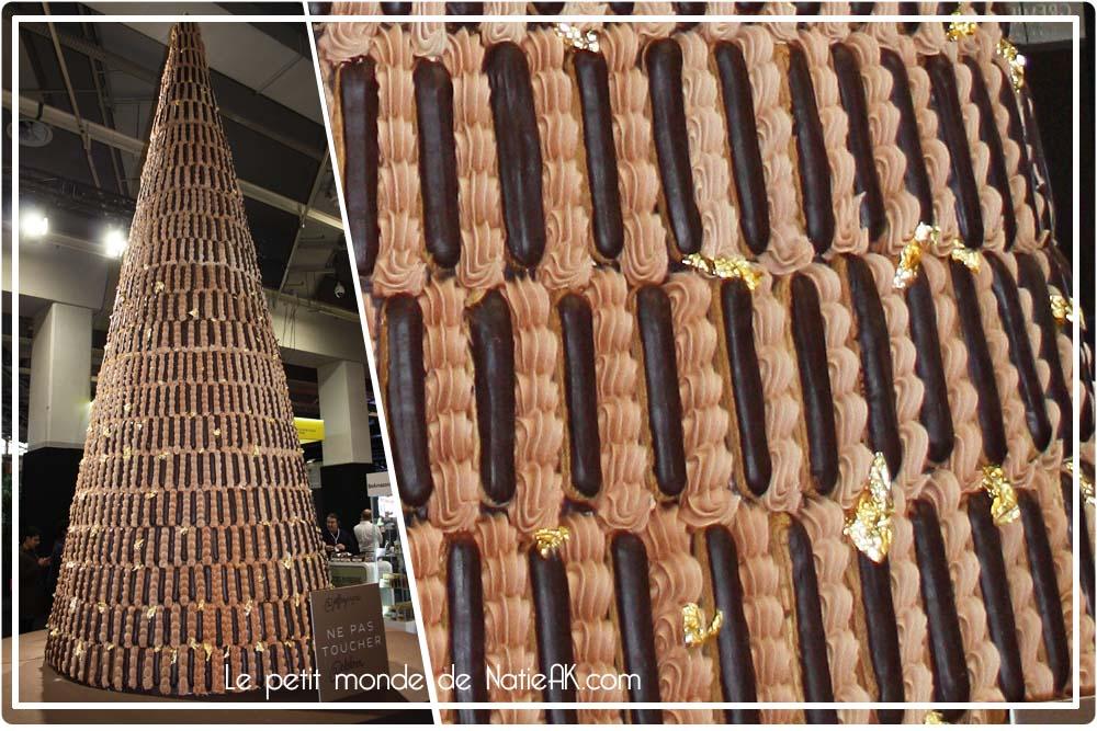 religieuse géante réalisée par Jeffrey Cagnes au Salon du Chocolat