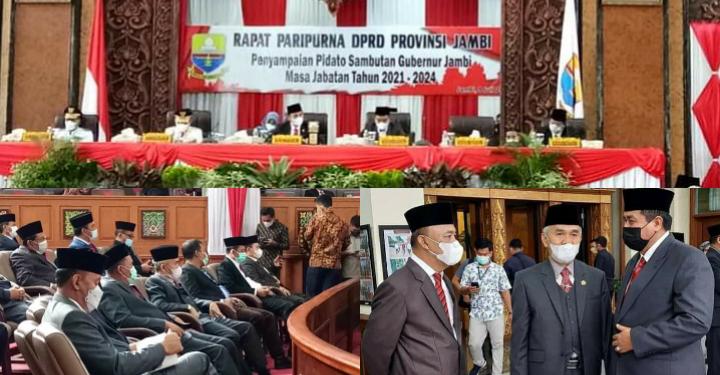 Bupati Kerinci Adirozal Hadiri Paripurna Pidato Pertama Gubernur Jambi
