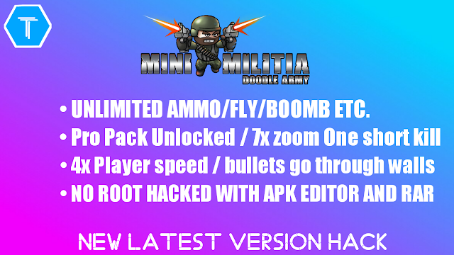 Mini Militia v4.1.1 : Doodle Army 2 Hacked With Apk Editor and Rar {No Root, Everything is Unlimited} (2018)