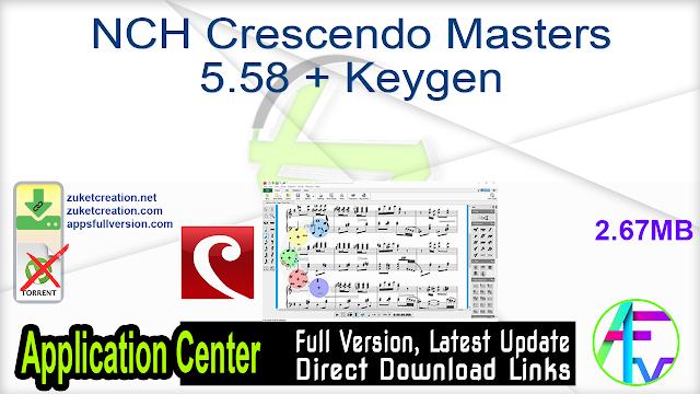 NCH Crescendo Masters 5.58 + Keygen