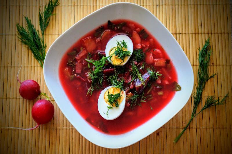 Dietetyczna zupa z botwinki