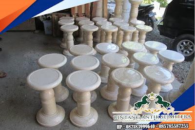Kursi Makan Bulat Marmer | Kursi Bulat Marmer | Kerajinan Tangan Dari Marmer