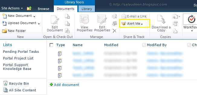 alert me is missing in sharepoint 2010
