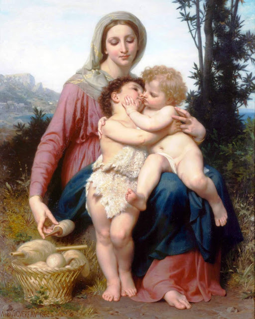 Адольф Вильям Бугро - Мадонна с Младенцем и Иоанном Крестителем (1863)