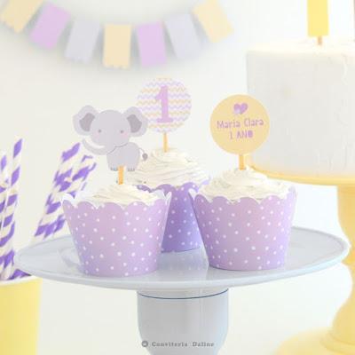 decoracao festa elefantinha aniversario menina