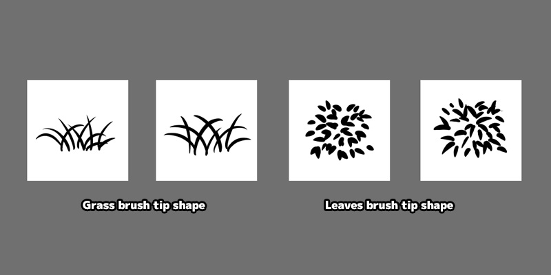 Medibang Paint Firealpaca leaves and grass brush