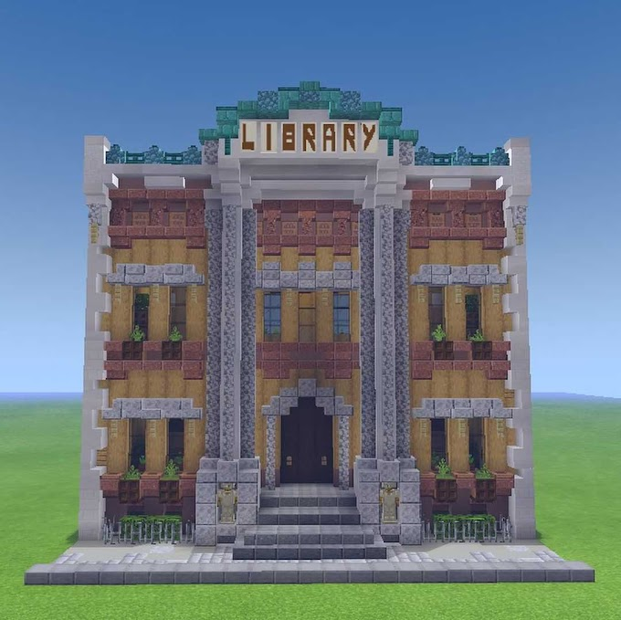 10+ Cool Minecraft Library Designs And Ideas   Patchescrafts