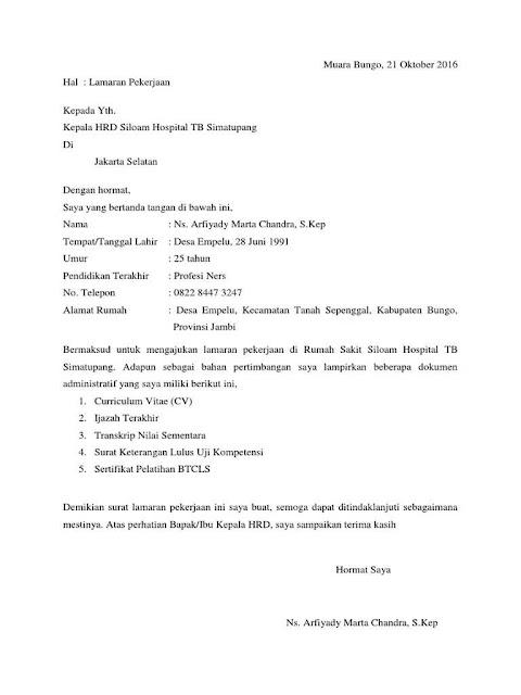 Contoh Surat Lamaran Kerja untuk Berbagai Kalangan (via: bergaya.id)