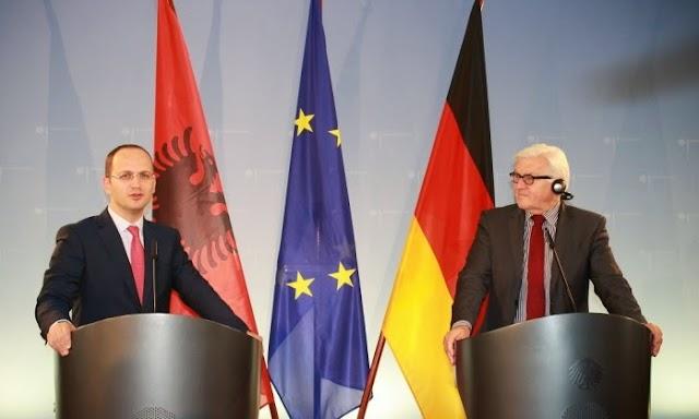 Steinmeier und albanischer Kollege feuern aus Berlin Richtung Makedonien