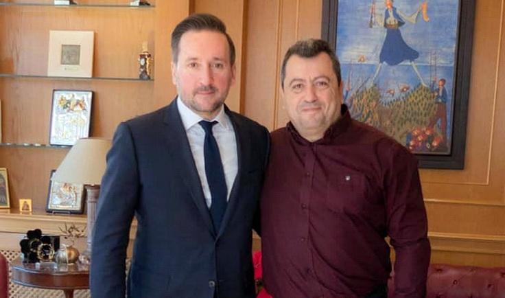 Συνάντηση Γιάννη Ζαμπούκη με τον Δήμαρχο Σαμοθράκης Νίκο Γαλατούμο