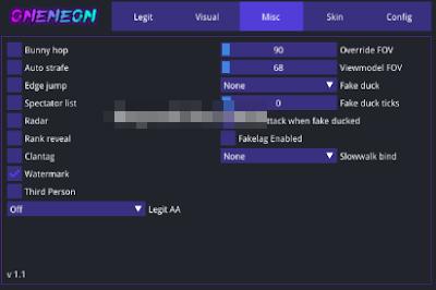 Counter Strike GO OneNeon Radar,ESP Free Hile 2-3 Temmuz 2019 Güncel