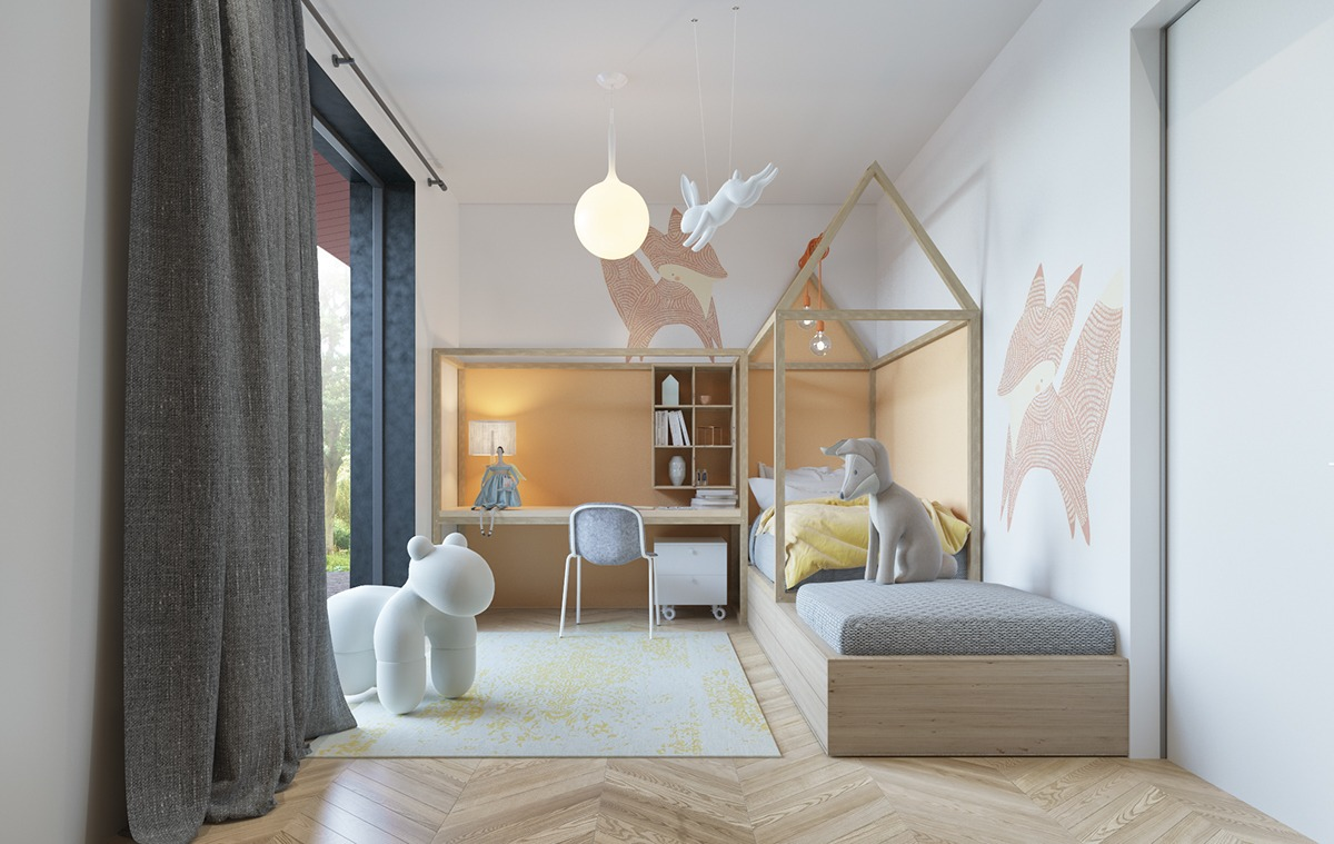 ideas para pintar las paredes de la habitación de los niños