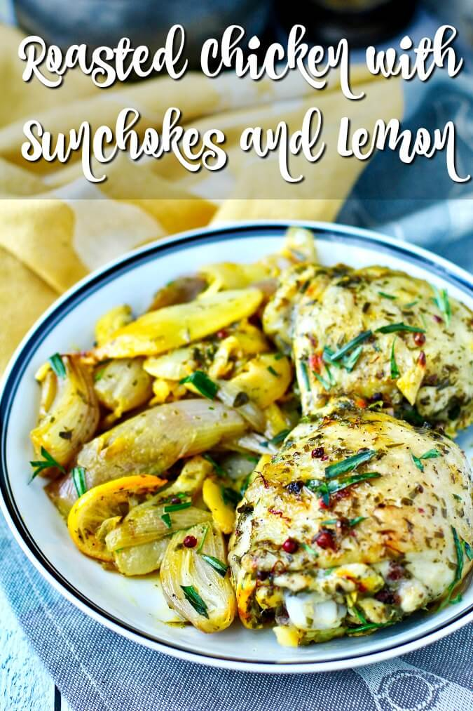Roasted Chicken with Sunchokes and Lemon