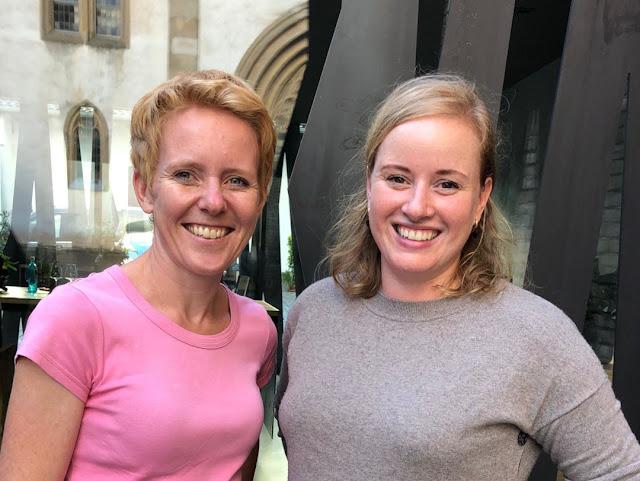 Sprecherinnen der Regionalgruppe Vinissima Nahe: laura Schneider und Anette Closheim.