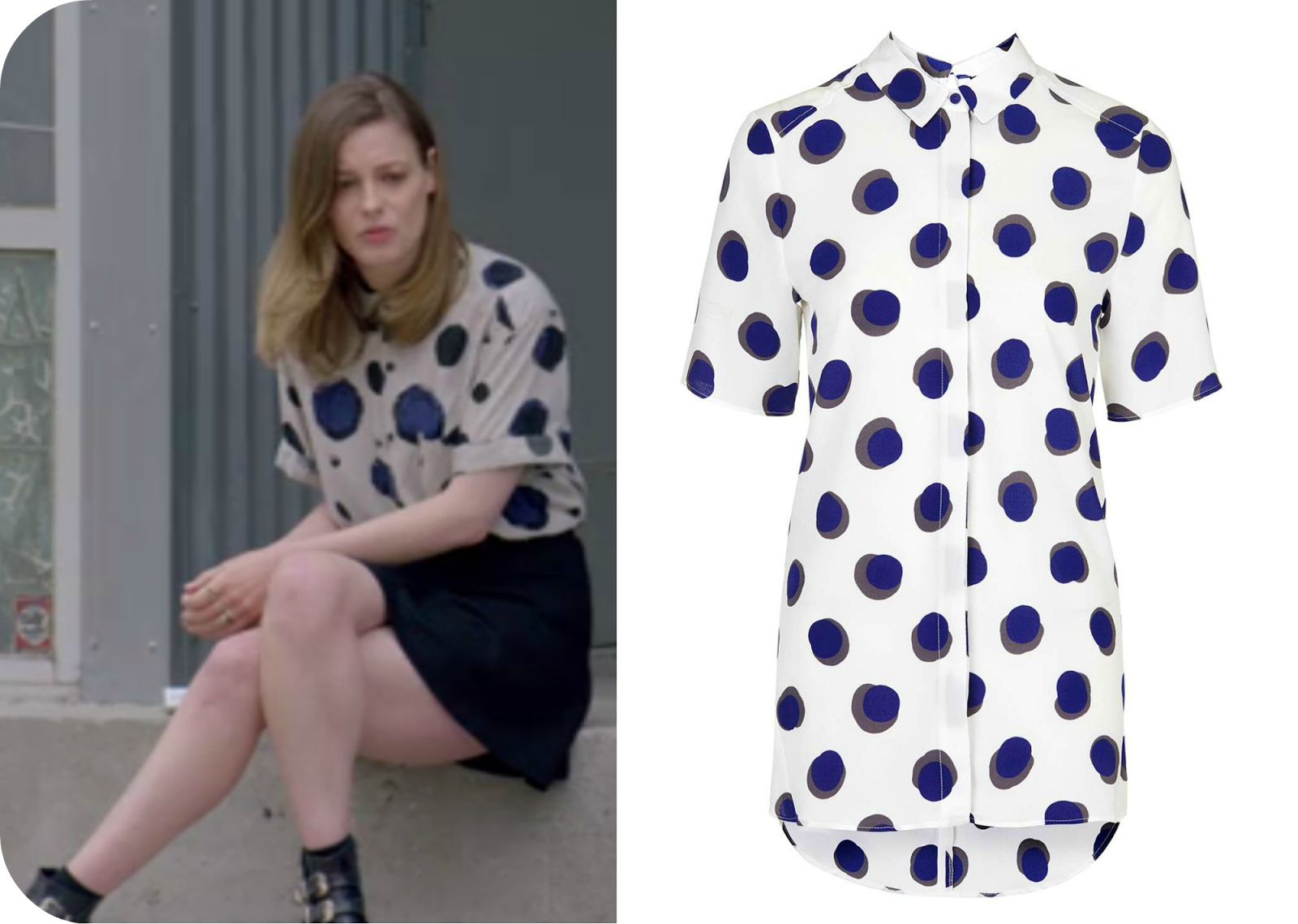 mickey netflix spotted dots shirt