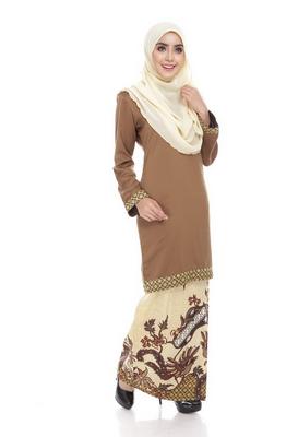 Baju muslim remaja motif batik model kurung