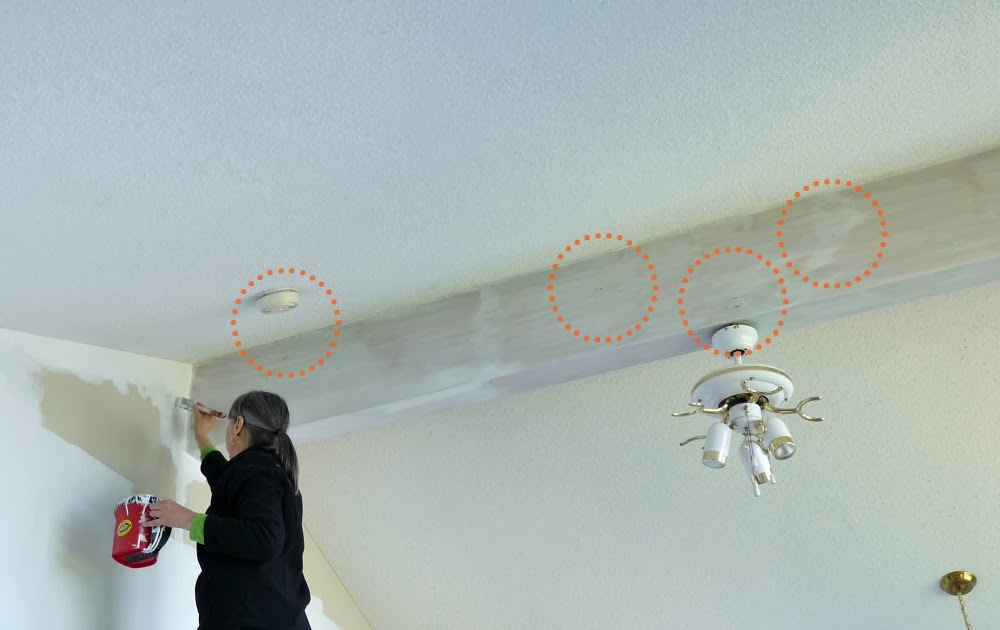 How to paint a wood ceiling beam white